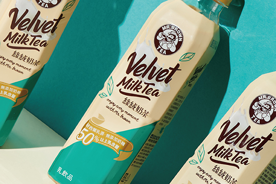 金車伯朗絲絨奶茶 產品包裝設計