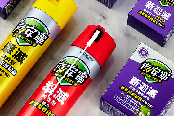 中西化學 夜安寧 殺蟲劑包裝設計