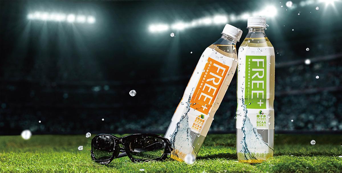 FREE 機能性運動飲料 瓶裝飲料包裝設計